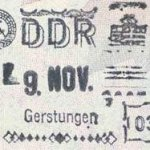 GDR – stamp of border control thumbnail