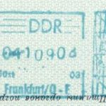 GDR – stamp of border control, 1969 thumbnail