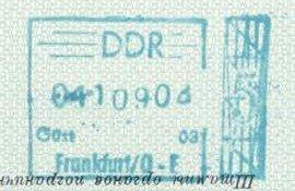 GDR – stamp of border control, 1969 post image