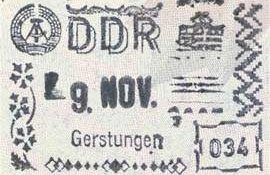 GDR – stamp of border control post image