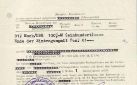 GDR – confiscation document, 1989 post image