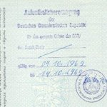 GDR – registration record in the passport, 1969 thumbnail