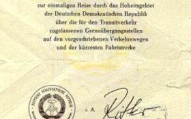 GDR – transit visa to West Berlin (other version) post image
