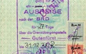 GDR – entry visa to FRG, 1978 post image