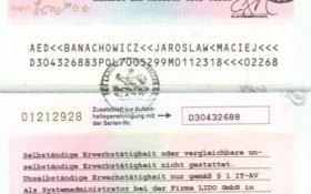 Germany – work permit, 2001 post image