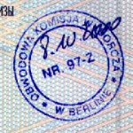 Germany – stamp from the presidential election, 2000 thumbnail