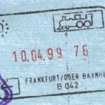 Germany – stamp from the railway border control, 1999 thumbnail