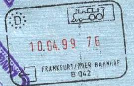 Germany – stamp from the railway border control, 1999 post image