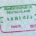 Germany – stamp of border control, 1991 thumbnail
