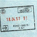 Germany – passport stamp, 1997 thumbnail
