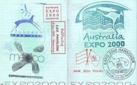 Germany – commemorative stamps with the Expo 2000 in Hanover post image