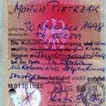 Germany – student visa, 1998 thumbnail