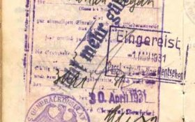 Germany – visa and stamp, 1931 post image