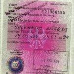 Germany – visa, 1994 thumbnail