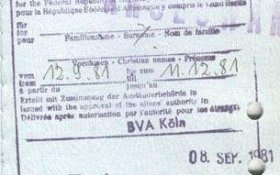 Germany – visa for residence, 1981 post image
