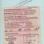 Germany – visa, 1988 thumbnail