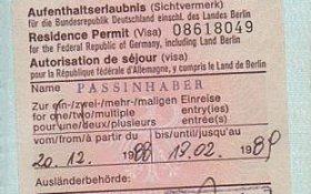 Germany – visa, 1988 post image