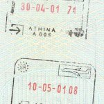 Greece – stamps of border control, 2001 thumbnail