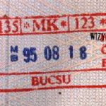 Hungary – stamp of border control, 1995 thumbnail