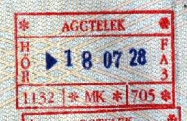 Hungary – border stamp, 1998 post image