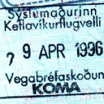 Iceland – a stamp of border control, 1996 thumbnail