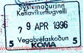 Iceland – a stamp of border control, 1996 post image