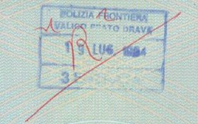 Italy – cancellation of stamp, 1994 post image