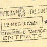 Italy – border stamp, 1932 thumbnail