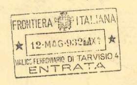 Italy – border stamp, 1932 post image
