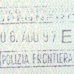 Italy – border stamp, 1997 thumbnail