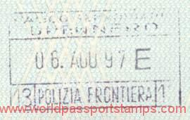 Italy – border stamp, 1997 post image
