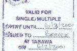 Kiribati – visa, 2001