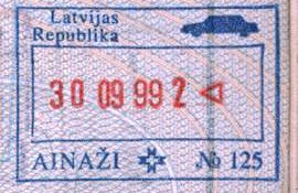 Latvia – border stamp, 1999 post image