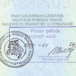 Lithuania – confirmation of a valid passport thumbnail