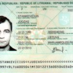 Lithuania – main page of the passport, 2003 thumbnail