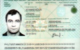 Lithuania – main page of the passport, 2003 post image