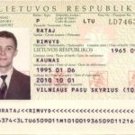 Lithuania – page with personal data in the passport thumbnail