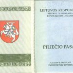 Lithuania – the inside of the cover of the passport thumbnail