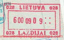 Lithuania – border stamp, 1999 post image