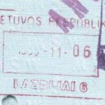 Lithuania – passport stamp, 1995 thumbnail