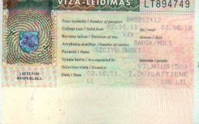 Lithuania – visa, 2002 post image