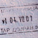 Macedonia – border stamp, 2001 thumbnail
