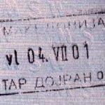 Macedonia – border stamp, 2001 thumbnail
