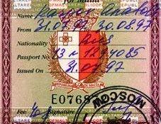 Malta – visa, 1997 post image