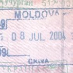 Moldova – entry stamp, 2004 thumbnail