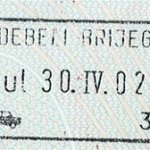 Montenegro – stamp from border crossing, 2002 thumbnail