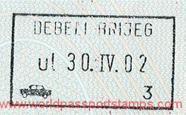 Montenegro – stamp from border crossing, 2002 post image