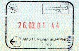 Netherlands – stamp of air border control, 2001 post image