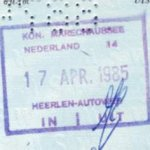 Netherlands – border stamp, 1985 thumbnail