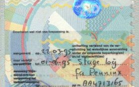 Netherlands – visa, 1995 post image